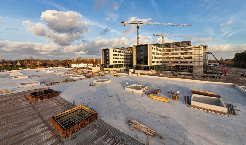 photo by Bert Vereecke of constrution site hospital AZ Alma (Eeklo)