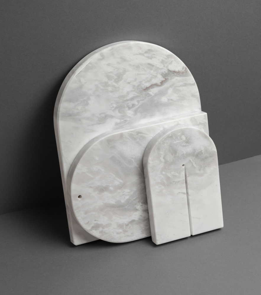 photo by Bert Vereecke of marble placemats for Objekt Architecten