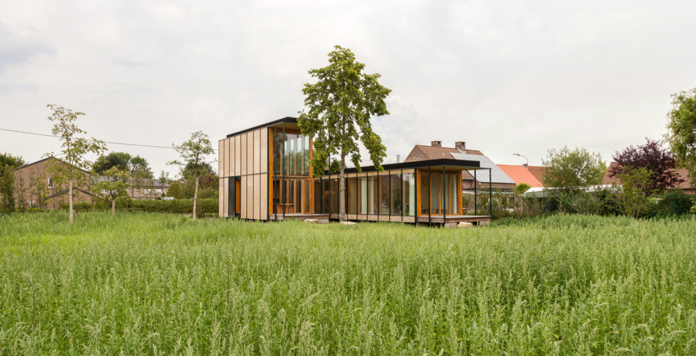 photo by Bert Vereecke of residental home (Wachtebeke) for Woodframes